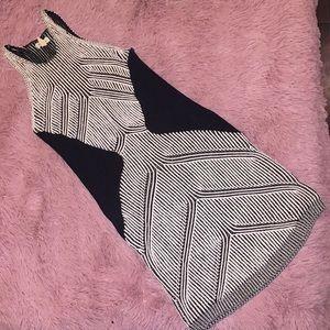 UO black + white sleeveless sweater dress!